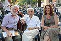 Fulvio Wetzl, e Laura Bagnoli, con Morando Morandini al 10° Laura Film Festival 2013 di Levanto.jpg