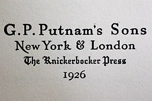 G. P. Putnam's Sons - Publisher's Imprint