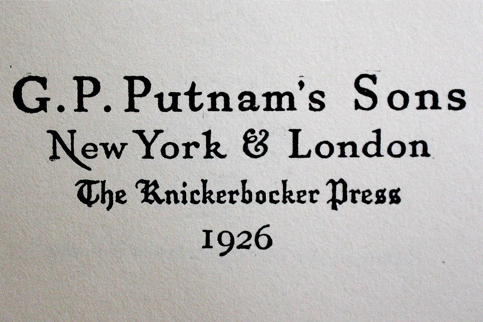 G.P. Putnam's Sons The Knickerbocker Press