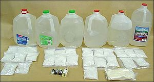 Gamma-Butyrolactone - Jugs of seized GBL.