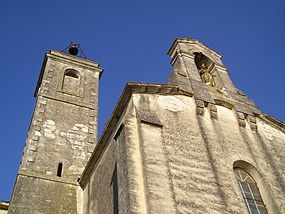 Galargues eglise facade 29072009tour.JPG