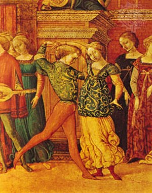 Ballroom dance - Galliard in Siena, Italy, 15th century