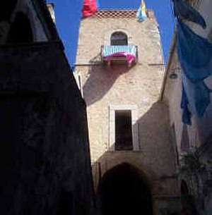 "Larino - The Campanile of the Convent (1312), now called ""The Galluppi Tower"", may once have been a defensive fortification."