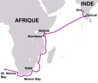 Le contournement de l'Afrique par Vasco de Gama, Premier voyage (1497 - 1499)