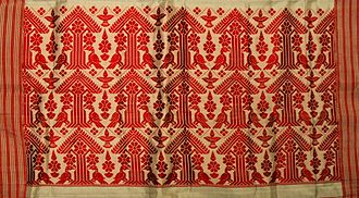 Gamosa - A Gamosa border with a traditional handwoven motif called gosa