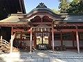 Gate of Kamitsu Shrine in Oyamazumi Shrine.jpg