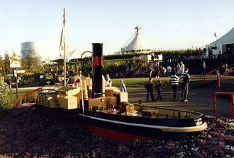 Gateshead Garden Festival - Model tug display