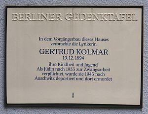 Kolmar, Gertrud (1894-1943)