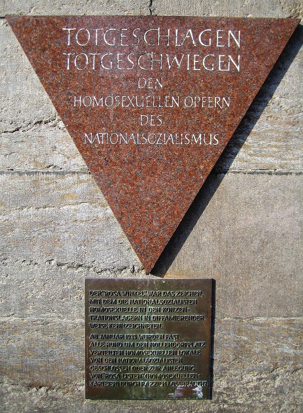 Gedenktafel Rosa Winkel Nollendorfplatz