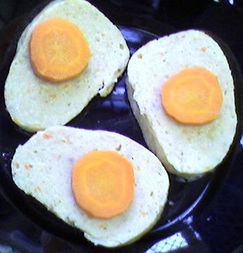 English: Gefilte fish, slices