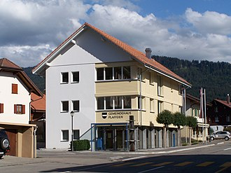 Plaffeien - Town hall of Plaffeien