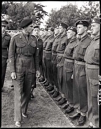 Guy Simonds - Simonds inspecting II Canadian Corps in Meppen, Germany, May 31, 1945.