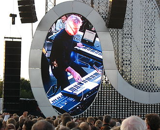 Tony Banks (musician) - Banks performing with Genesis in Denmark, 2007
