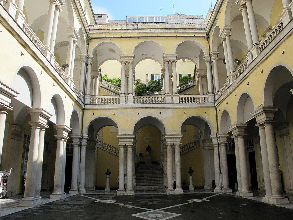 Genova, palazzo dell'università, cortile 03