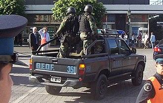 Argentine Federal Police - Grupo Especial de Operaciones Federales (GEOF)