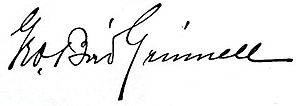 George Bird Grinnell - Image: George Bird Grinnell signature