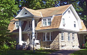 George Felpel House - West elevation and south profile, 2008