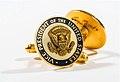 George H.W. Bush cufflinks, worn during his 1988 Presidential race (15404721161).jpg