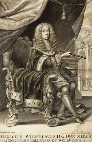 George William, Duke of Liegnitz - Georgius Wilhelmus D.G. Dux Silesiae, engraving by Jan Tscherning (1650-1732)