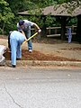 Georgia Native Plant Society planting butterfly garden in Heritage Park, Mableton, Cobb County, Sept 2015 24.jpg