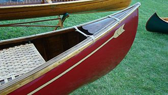 E.H. Gerrish Canoe Company - Gerrish canoe with classic heart-shaped deck