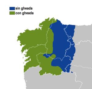 Gheada - Image: Gheda idioma gallego