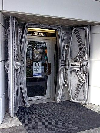 H. R. Giger - Entrance to Giger Bar in Chur