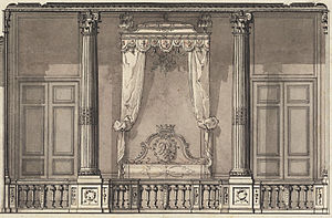Gilles-Marie Oppenordt - Image: Gilles Marie Oppenord Bed Alcove for the Duc d'Orléans, Palais Royal, Paris Google Art Project (cropped)