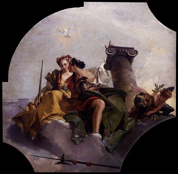 [peinture] Vos oeuvres préférées - Page 2 611px-Giovanni_Battista_Tiepolo_-_Fortitude_and_Justice_-_WGA22300