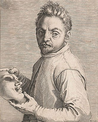 Portrait of an Actor - Image: Giovanni Gabrielli, engraved portrait by Agostino Carracci Art Gallery NSW