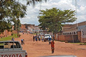 Gitega - A street in Gitega