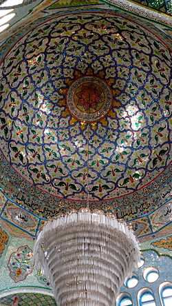 Glass studded roof of Bukhari Pir Dargah