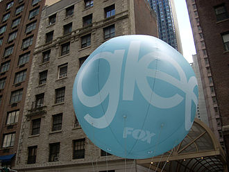 Glee (TV series) - A promotional balloon for Glee in New York City.