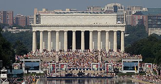Glenn Beck - Glenn Beck speaking at Restoring Honor in front of 500,000 at the Lincoln Memorial