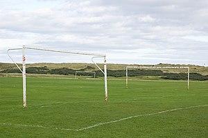 English: Goals Football pitches at Aulton