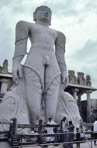 Tirtha (Jainism) - The Gomatheswara at Shravanabelagola 978-993 AD.