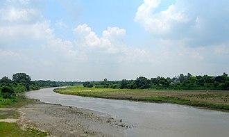Gomti River - The Gomti in Sitapur district