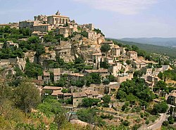 Gordes, a typical Provençal village, named by CNN as the most beautiful village of the world.[1]