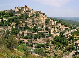 A general view of the village of Gordes