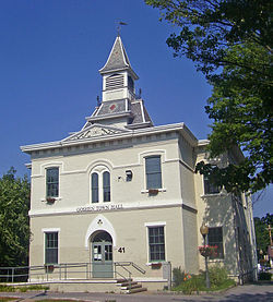 Goshen Town Hall, in the village of Goshen