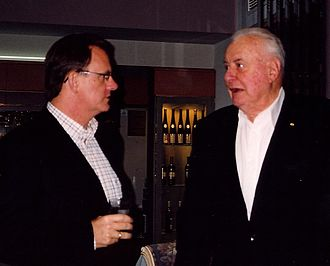 Mark Latham - Latham with mentor, former Prime Minister Gough Whitlam, at an election fundraiser in Melbourne, September 2004