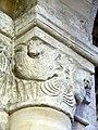Gournay-en-Bray (76), collégiale St-Hildevert, bas-côté sud, chapiteau de l'arcade vers le transept, côté nord 2.jpg
