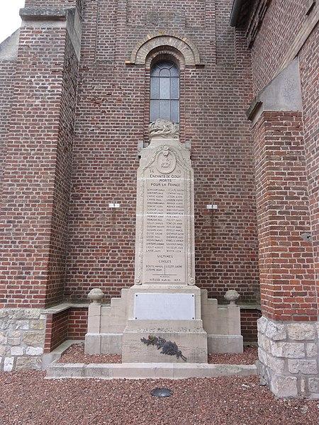 Gouy (Aisne) monument aux morts