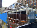 Government Center emergency exit construction, March 2016.JPG