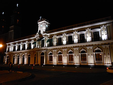 Government Palace Government Palace of Colima at night.jpg