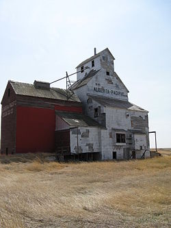 Oldest grain elevator in Alberta, located in Raley
