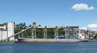Bulk carrier - Grain bulk carrier and loading apparatus, Seattle 2010