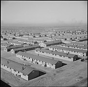 Granada Relocation Center, Amache, Colorado. A general all over view of a section of the emergency . . . - NARA - 539071.jpg