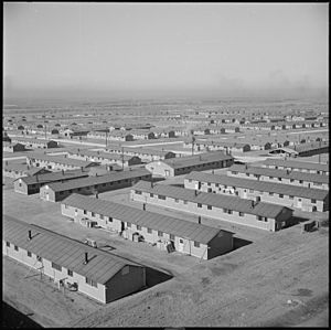 Granada War Relocation Center - A general view of a section of the site looking north and west.