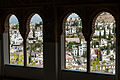 Granada seen through windows of Alhambra, Granada (6930664858).jpg